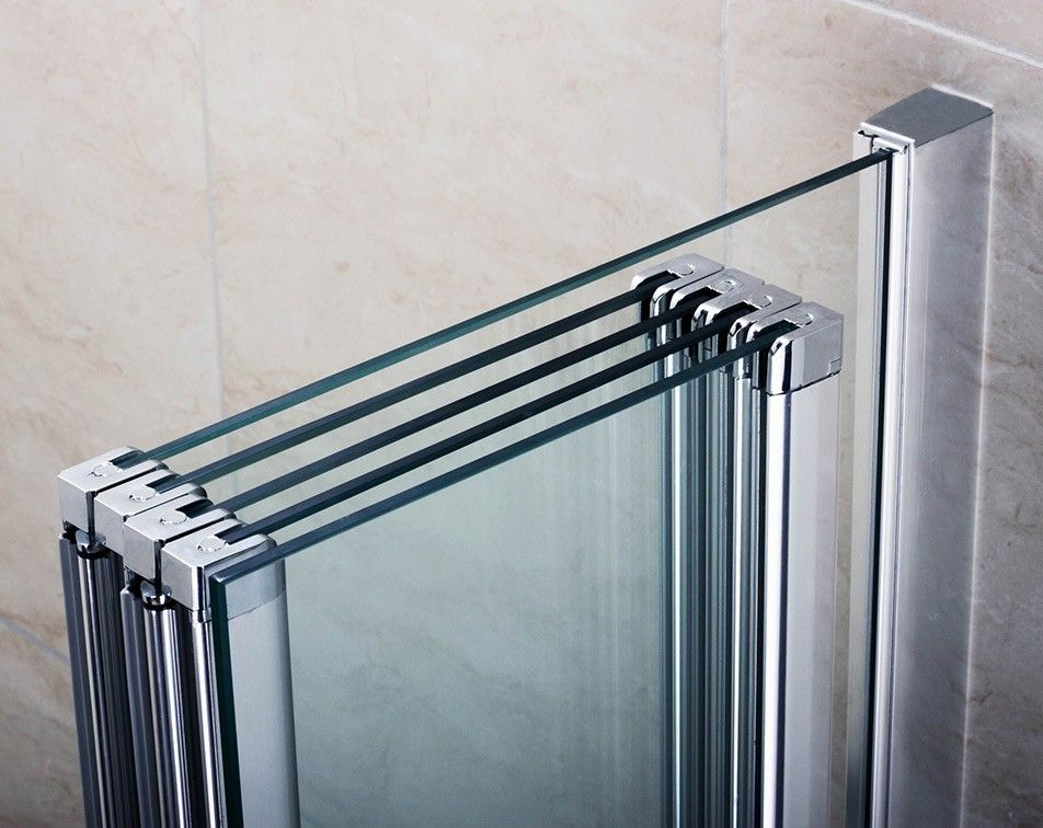Premier 4 Folding Bath Screen With Fixed Panel Folding