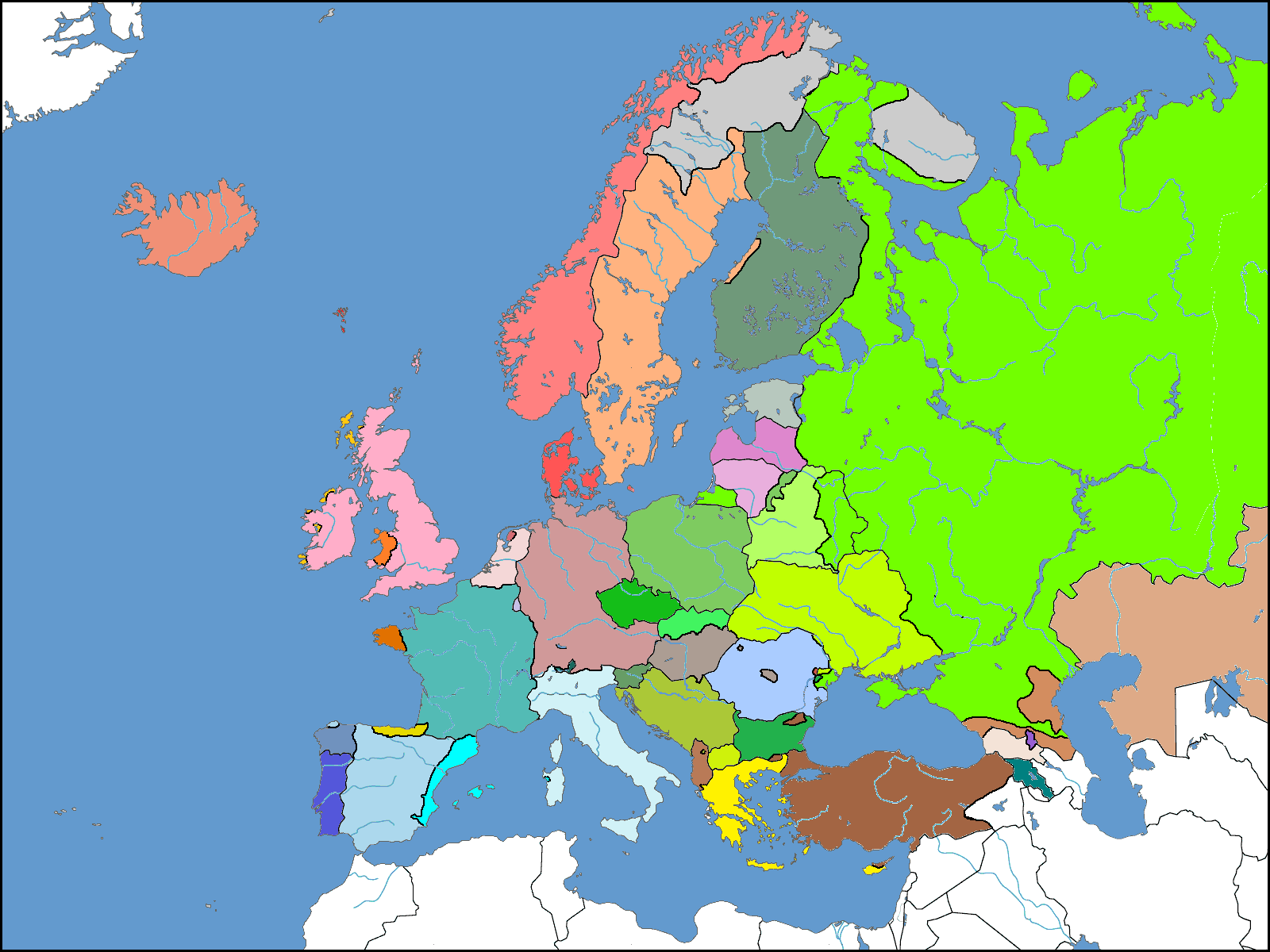 Map Of A Europe Where National Borders Are Based Solely Off Of Lingu