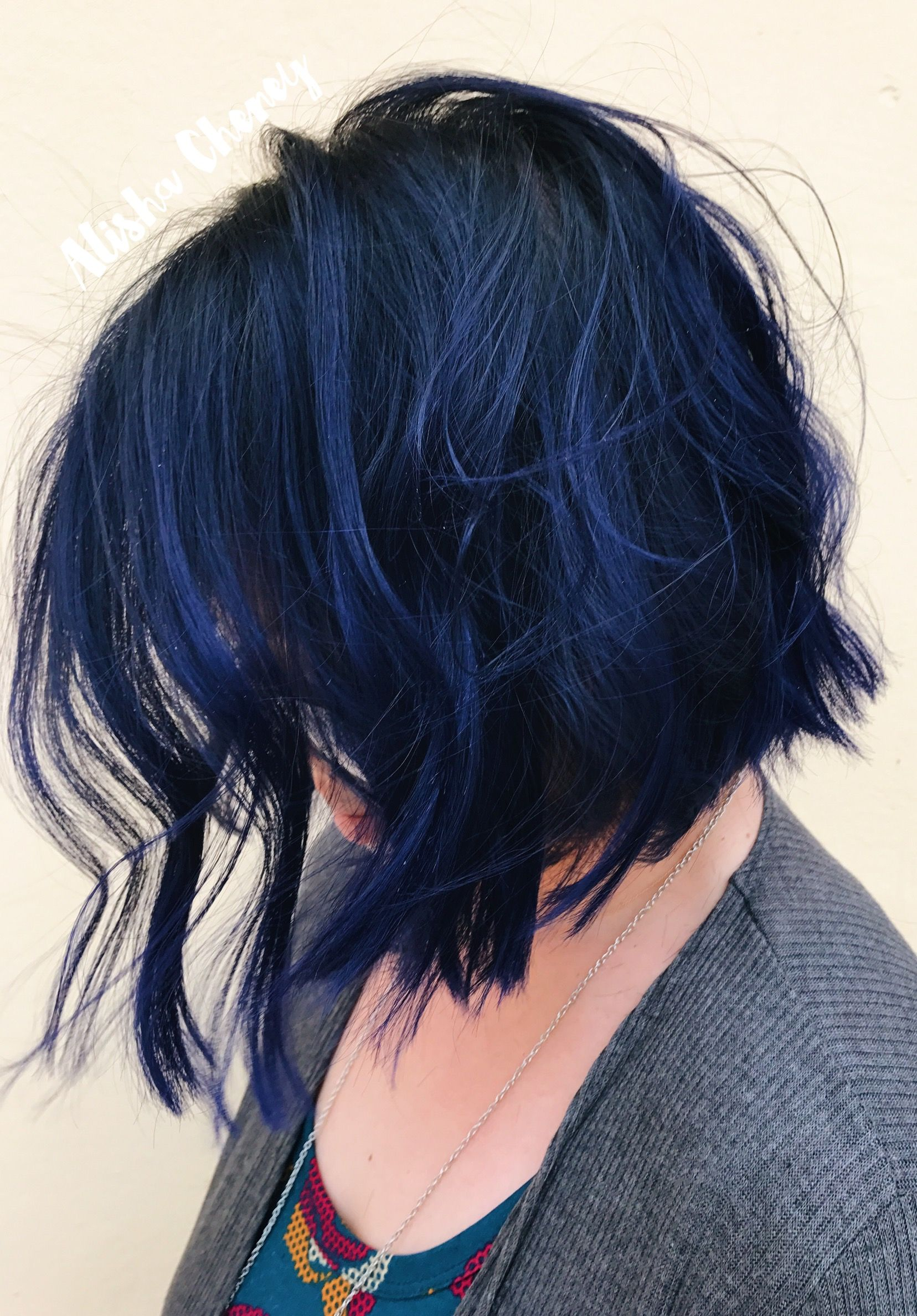 Blue Hair Bob Vibrant Hair Styles Bob Hairstyles Medium Length Hair Styles