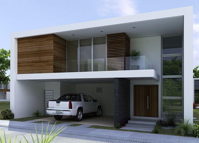 Resultado de imagen para fachadas de casas modernas - Casas de dos plantas modernas ...