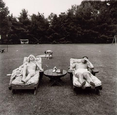 A family on their lawn one Sunday, Westchester, NY, 1968, Diane Arbus