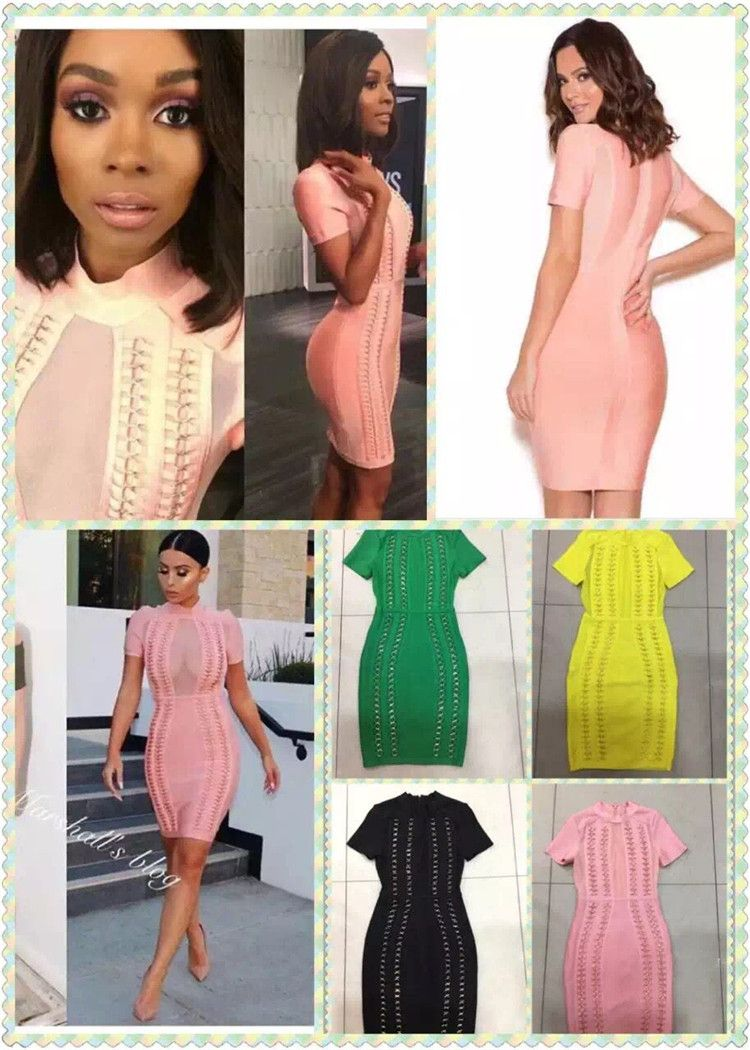 Click to buy ucuc colors ladies hl bandage dress short sleeve sexy