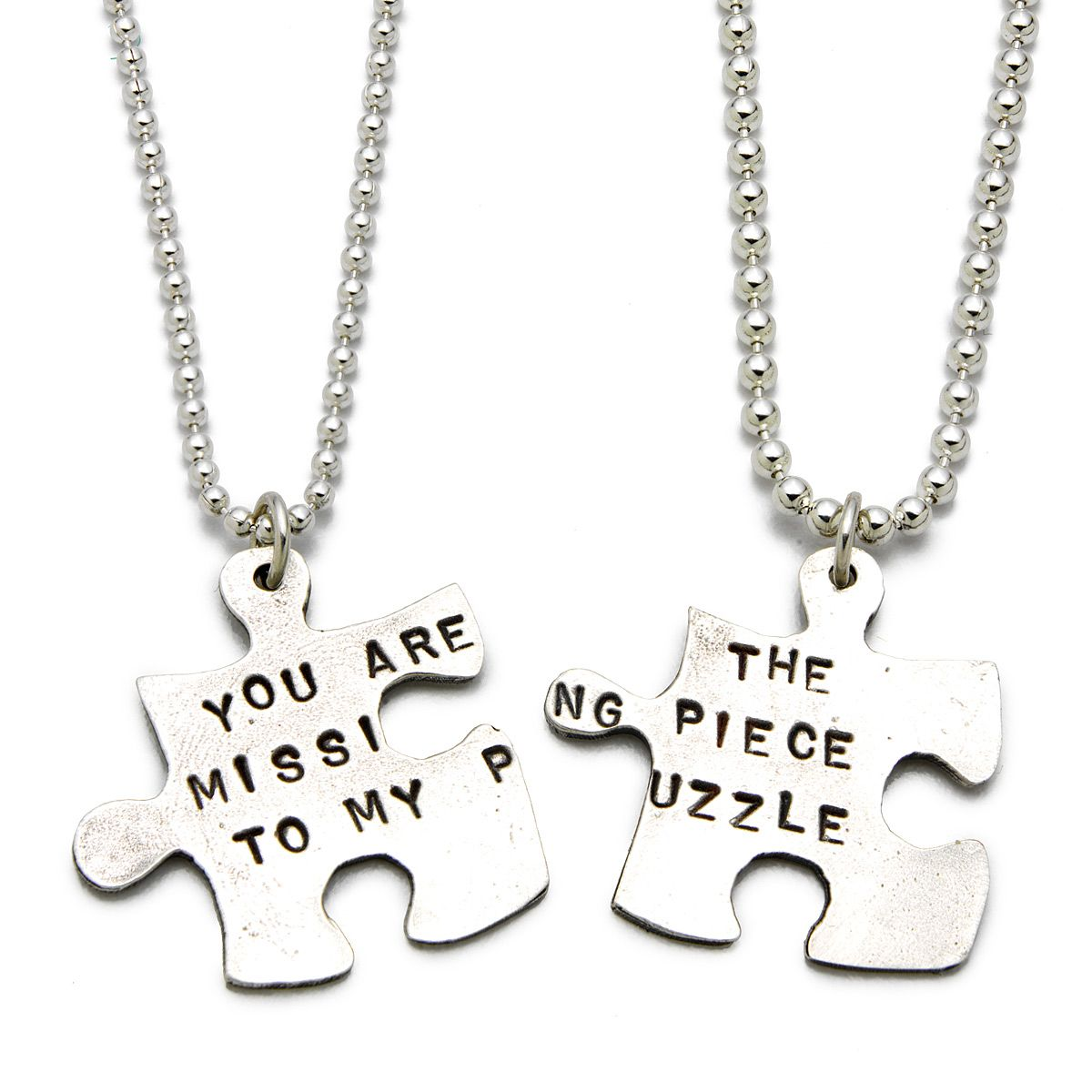 piece charm puzzle awareness necklace snake products expo jigsaw chain heart autism the pendant