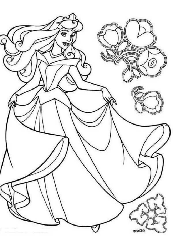 Disney Princess Aurora In Sleeping Beauty Coloring Page Color Luna Cinderella Coloring Pages Disney Princess Coloring Pages Sleeping Beauty Coloring Pages