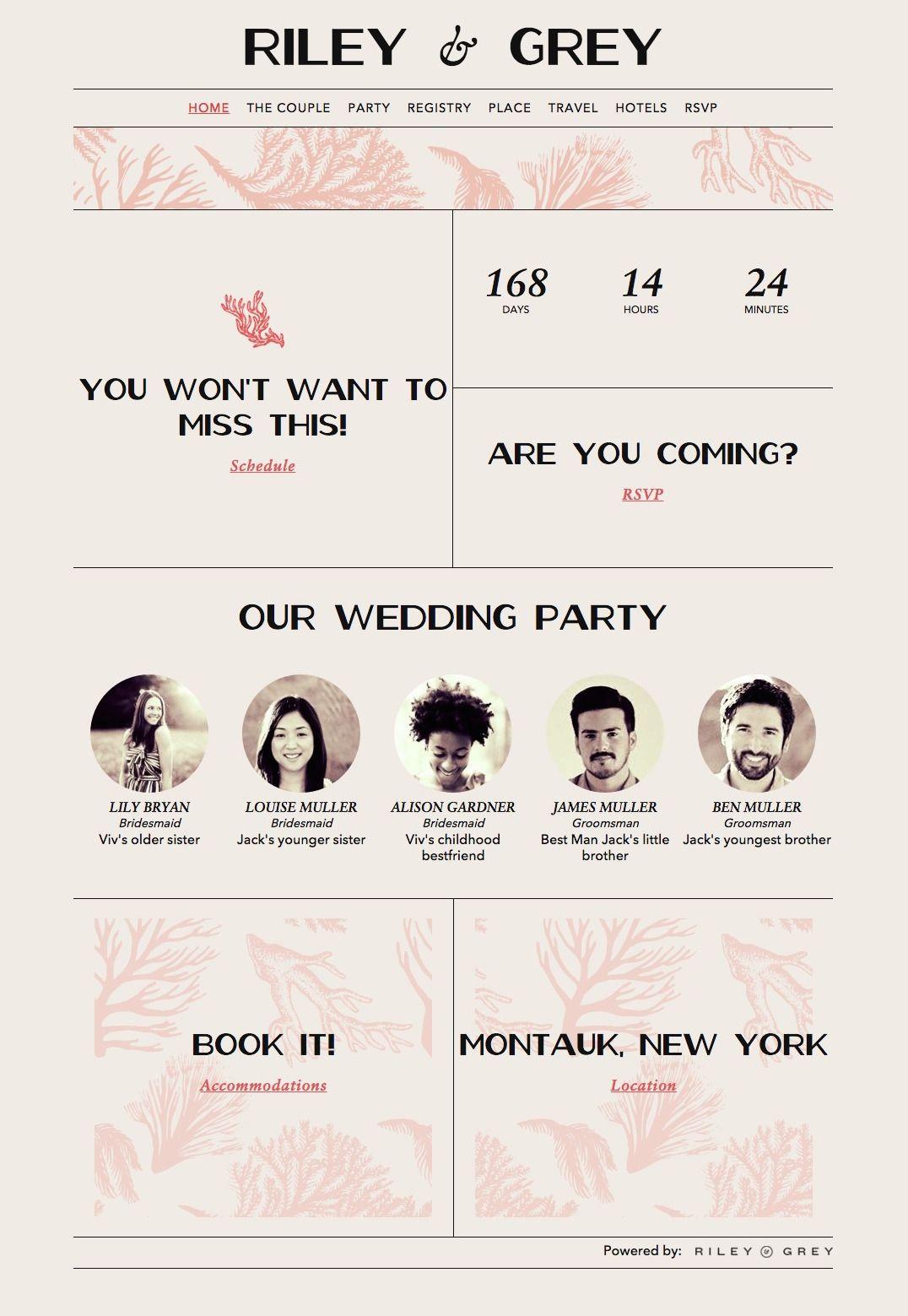 beach wedding invitation wedding website example RILEY