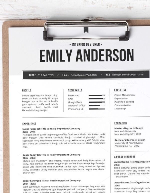 Professional Resume Template , Mac Resume Template u2013 Great for - resume template mac