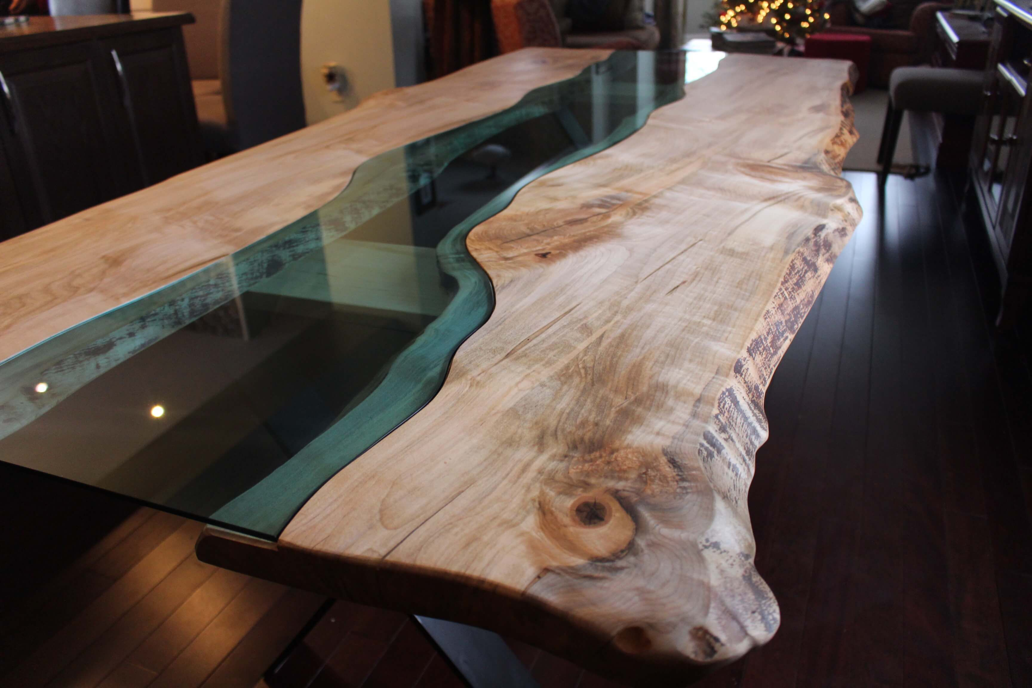 Living Wood Designs River Table Maple Live Edge Shop Locations