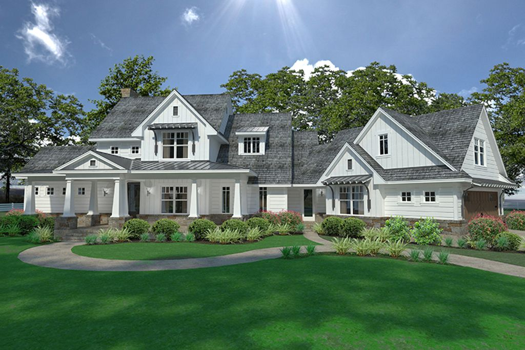 Farmhouse Style House Plan 3 Beds