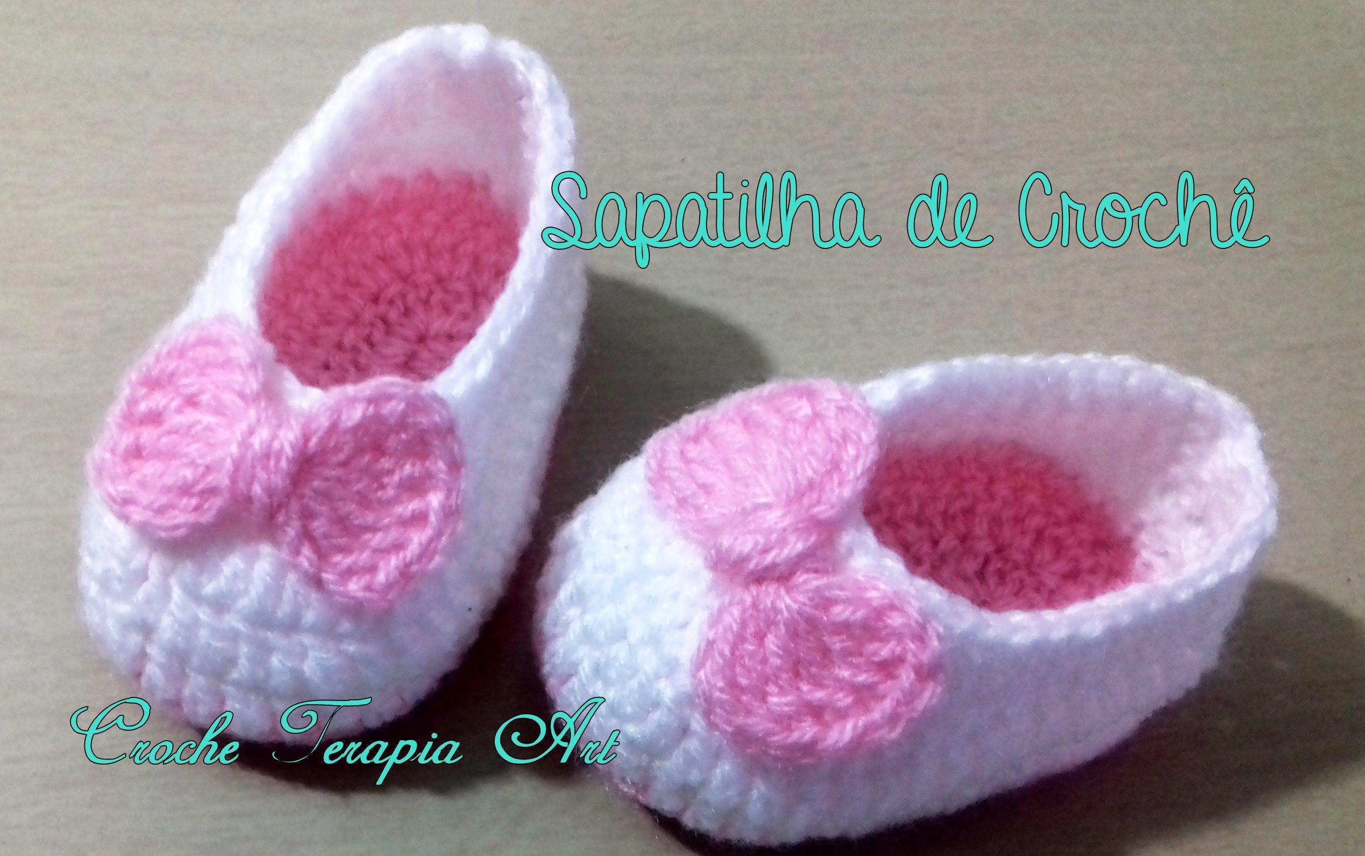 Sapatilha de crochê Fácil #crochet | Baby things | Pinterest ...