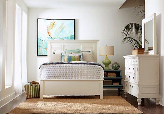 picture of Belmar Queen White 5Pc Panel Bedroom from Queen Bedroom ...