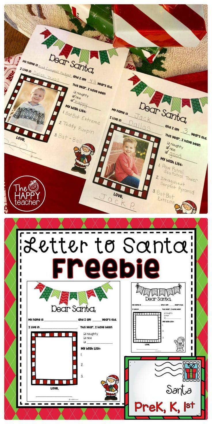 Free template for writing a letter to santa this is perfect for free template for writing a letter to santa this is perfect for preschool kindergarten and 1st grade you can include a photograph of students o spiritdancerdesigns Choice Image
