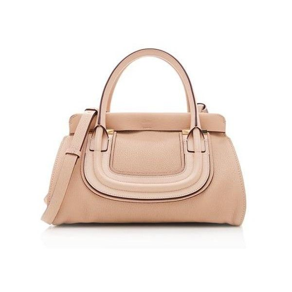 Pre-Owned Chloe Everston Medium Double Leather Satchel ($1,680) ❤ liked on Polyvore featuring bags, handbags, beige, leather satchel handbags, leather satchel, beige handbags, satchel handbags and over the shoulder purse