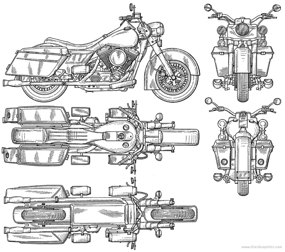 Harley davidsonfreeblueprintcgfrogcom blue prints risultati immagini per car blueprints with dimensions malvernweather Image collections