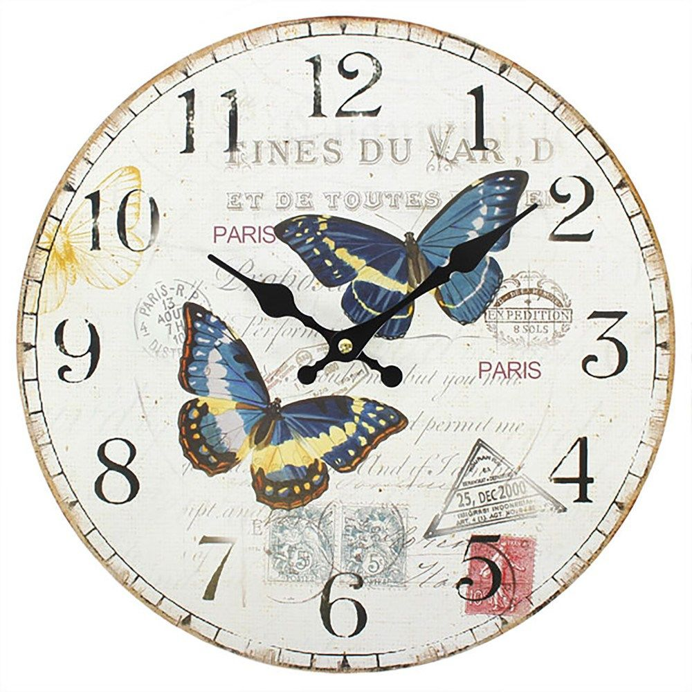 Shabby Chic Double Butterfly Wall Clock Wholesale in 2020 ...