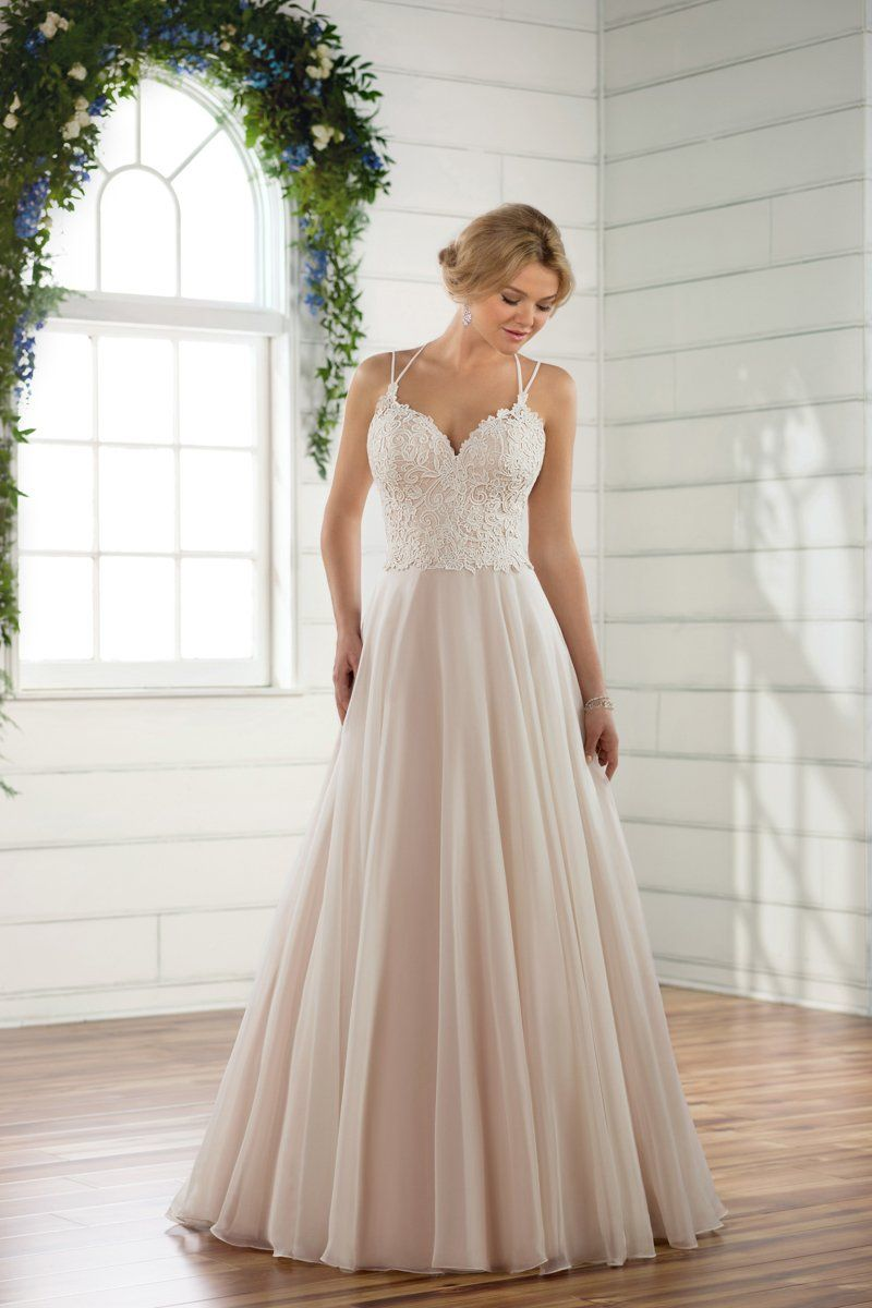 Aline weddingdress idea simple wedding dress with blush underlay