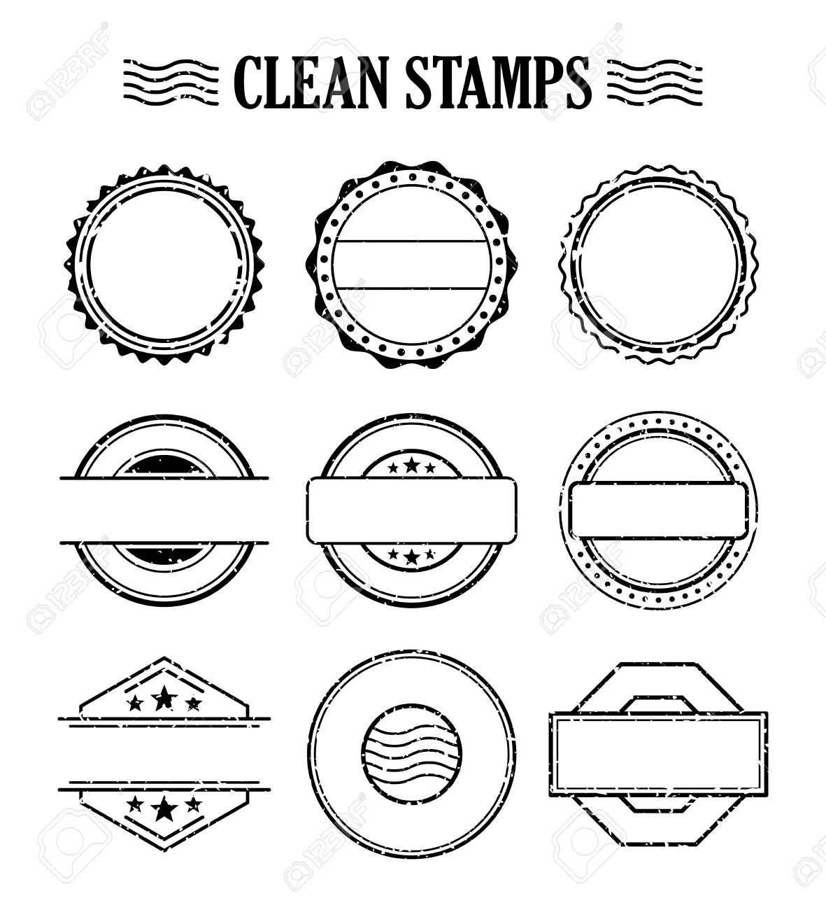 Blank Stamp Set Ink Rubber Seal Texture Effect Postage And Intended For Blank Seal Template Blank Seal Stamp Set Stamp