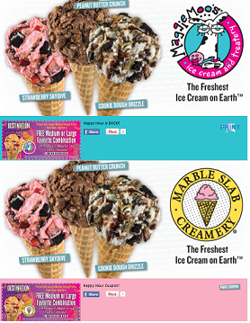 Maggie Moo S Marble Slab Creamery Coupon For Bogo Free Ice Cream Combination Through 6 6 Dog Food Recipes Food Marble Slab Creamery