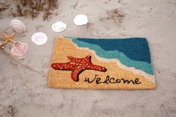"Entryways Starfish Welcome Hand Made Coir Doormat 18"" x 30"":Amazon:Patio, Lawn & Garden"
