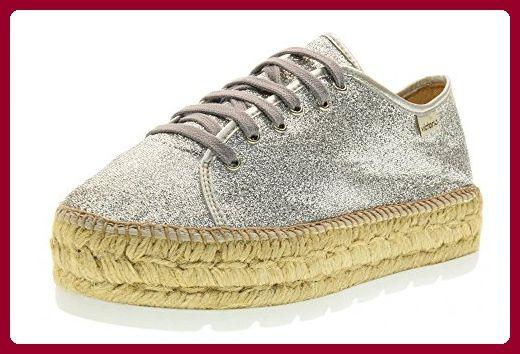 VICTORIA Frauen niedrige Turnschuhe mit 088.100 Seil Plattform SILVER Größe 39 Silber - Sneakers für frauen (*Partner-Link)