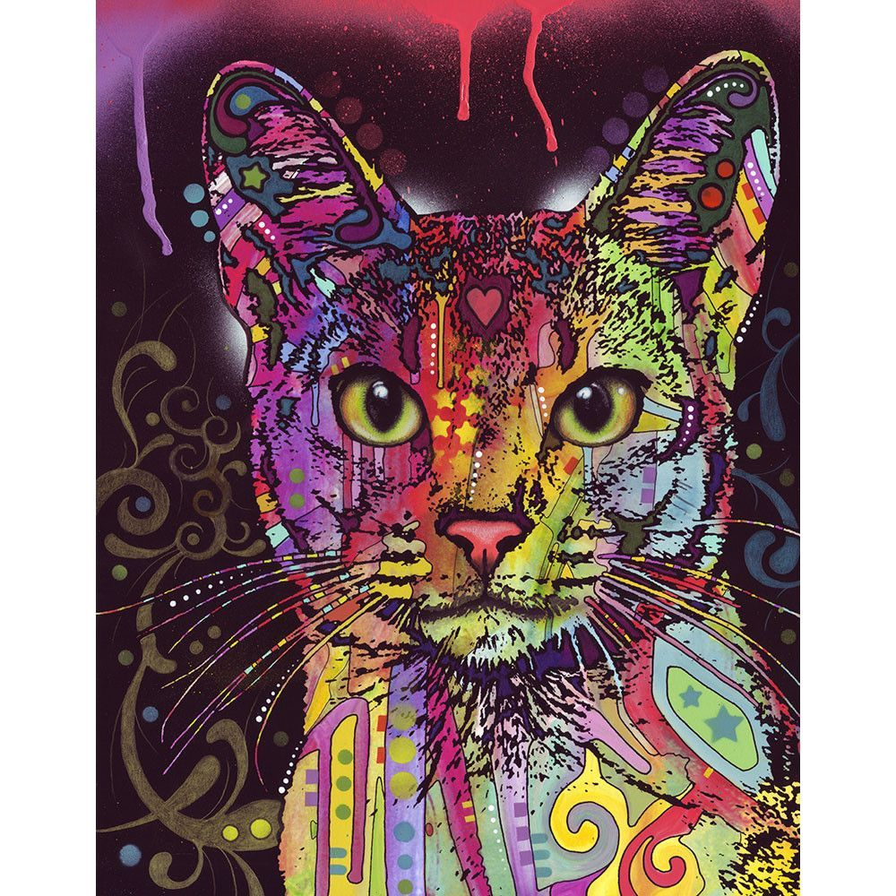 abyssinian cat wall sticker decal animal pop art by dean russo abyssinian cat wall sticker decal animal pop art by dean russo