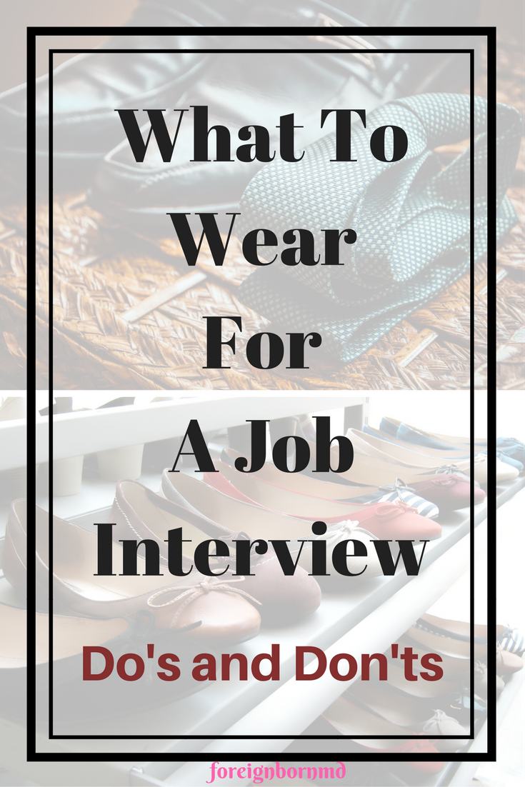 what to wear for masters interview