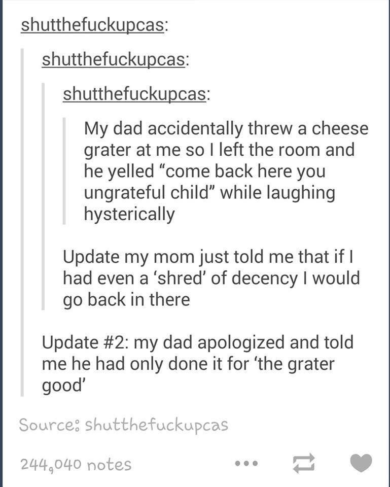 Cheesy jokes lmao