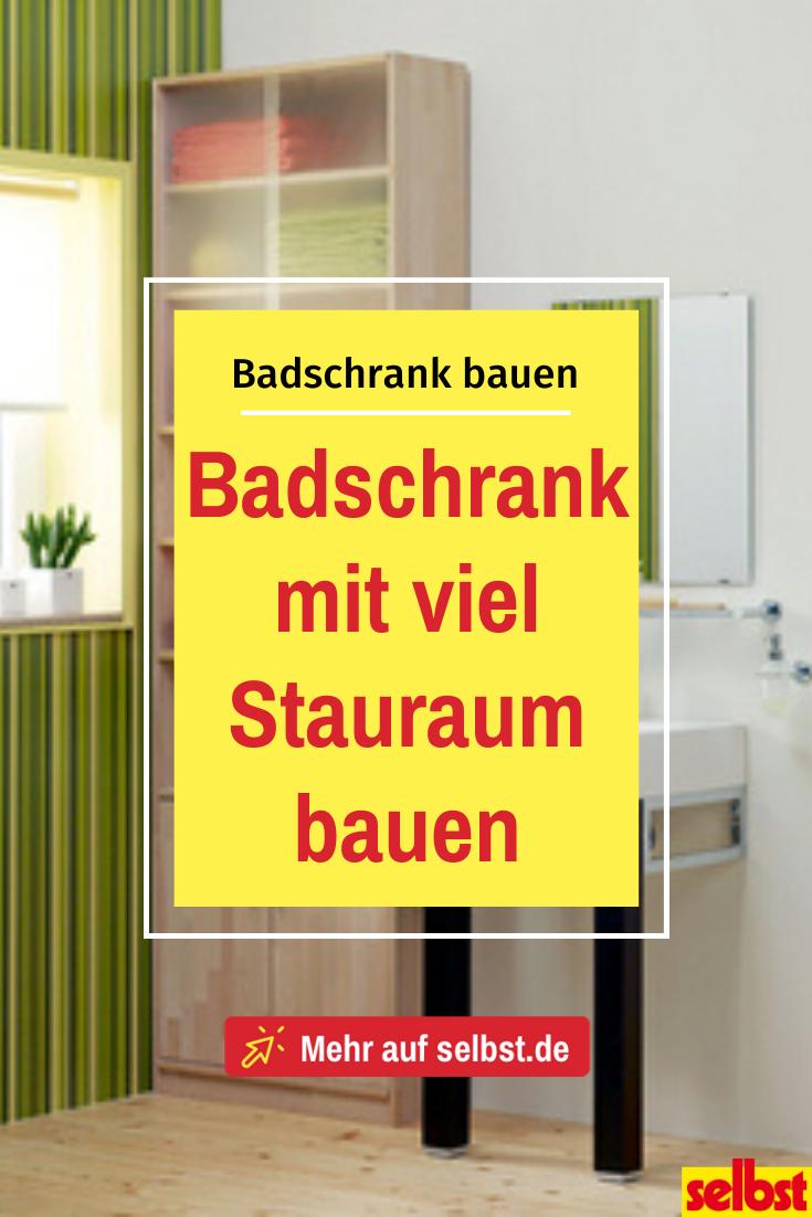 Badschrank Hoch Selbst De Badschrank Schrank Selber Bauen Schrank Bauen