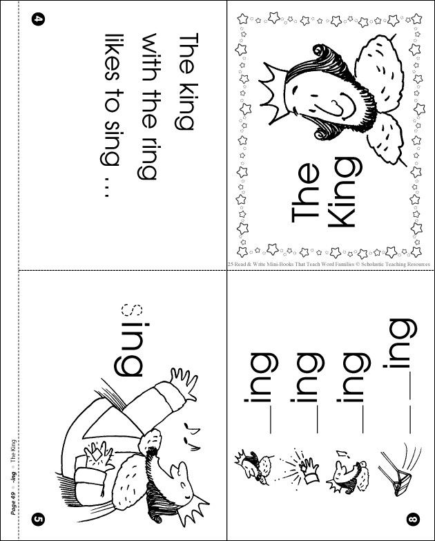 Word Family Ing Mini Book Word Family Worksheets Kindergarten Word Families Word Family Activities