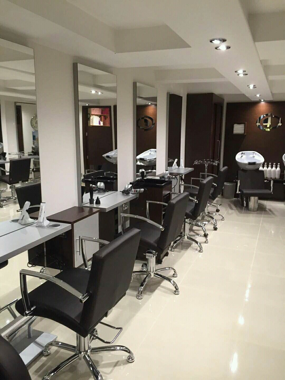 Carmen styling chairs and Simple styling units by Ayala Salon Furniture. Hairdresser salon design. #salonideas