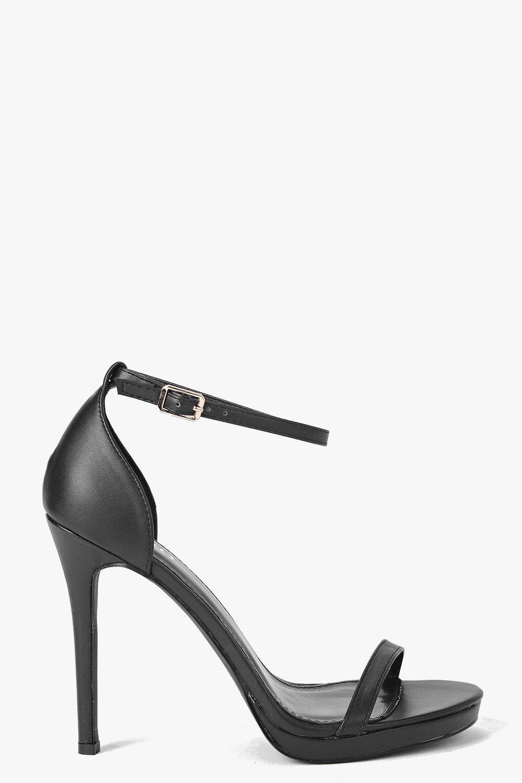 7528f2d4f0017 Elizabeth Single Platform Two Part Heels Lace Up Heels