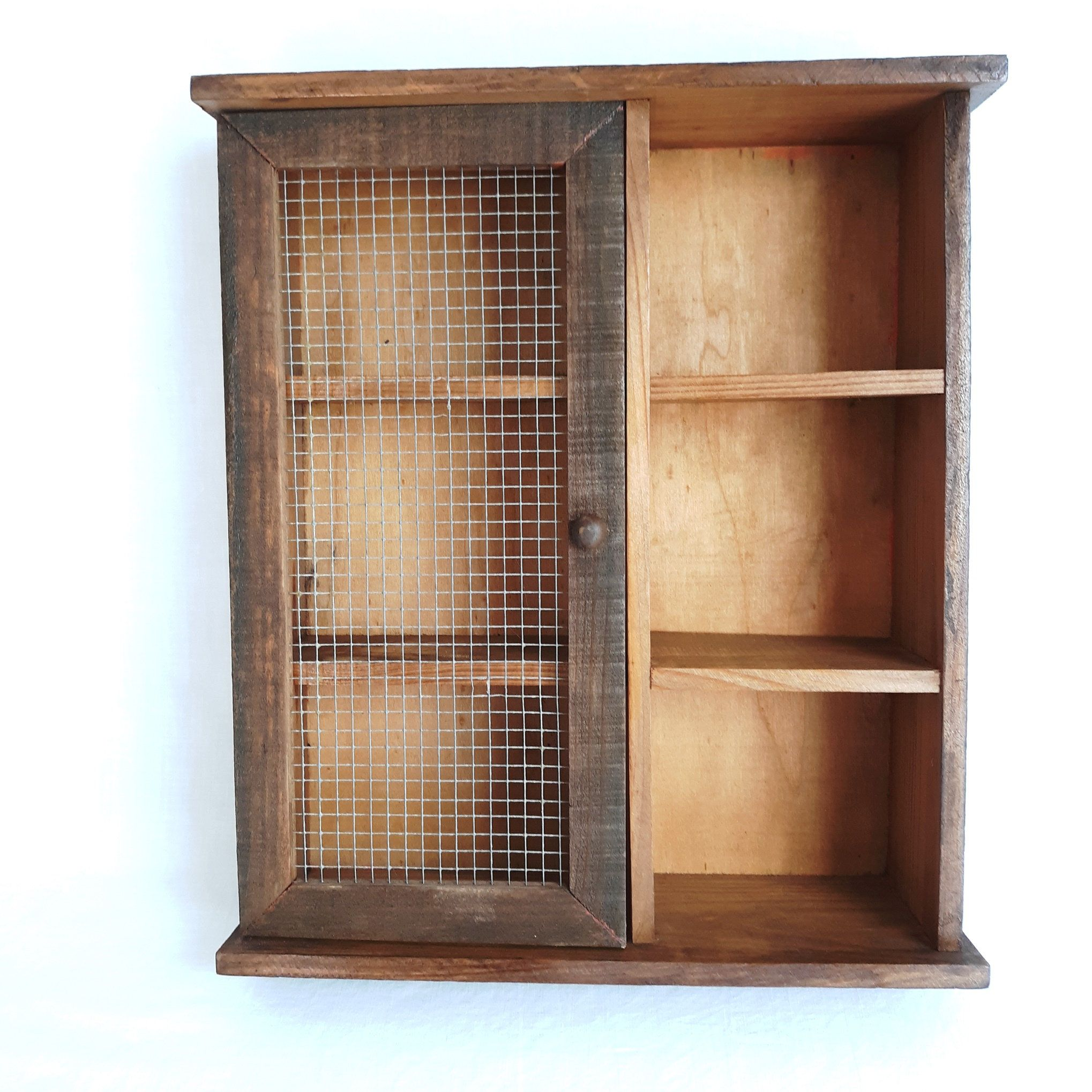 Vintage Rustic Wall Hanging Small Wooden Cabinet One Metal Etsy Rustic Wall Hangings Wooden Cabinets Home Decor Australia Small wooden cabinets with doors