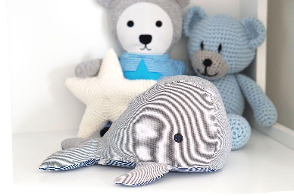balena regali Piccola da da coccolareRegali cucire e Giocattoli 0kwNPX8nO