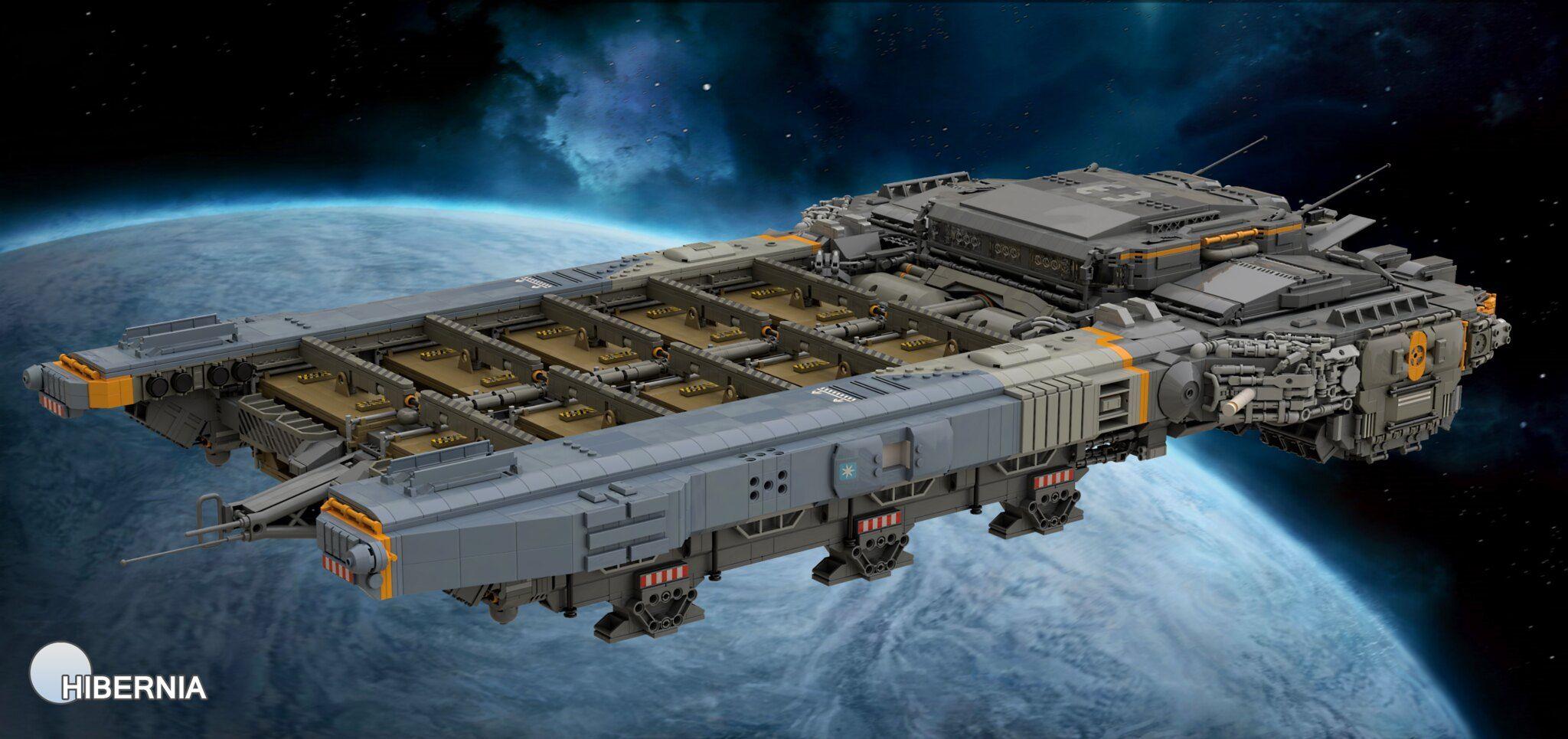 Medium Freighter Ship Sturgeon Starship Design Lego Ship Starship Concept