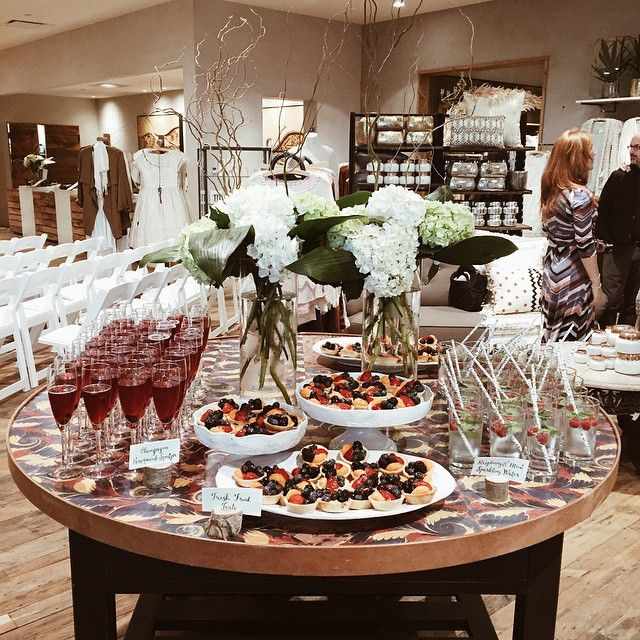 """Our treats for the fashion show event! Everything turned out so amazing! #str579 #anthroevents #anthropologie"""