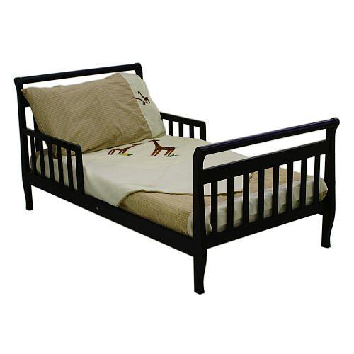 Dream On Me Toddler Sleigh Bed - Black - Dream On Me ...