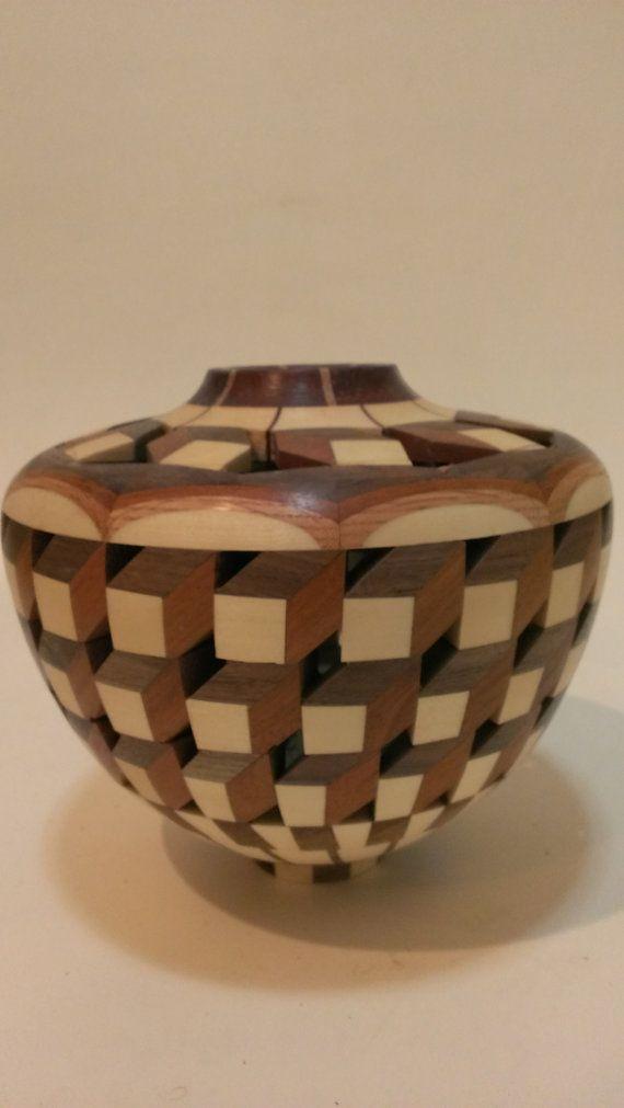 Segmented Wood Tessellation on Etsy, $265.00 | Woodturning ...