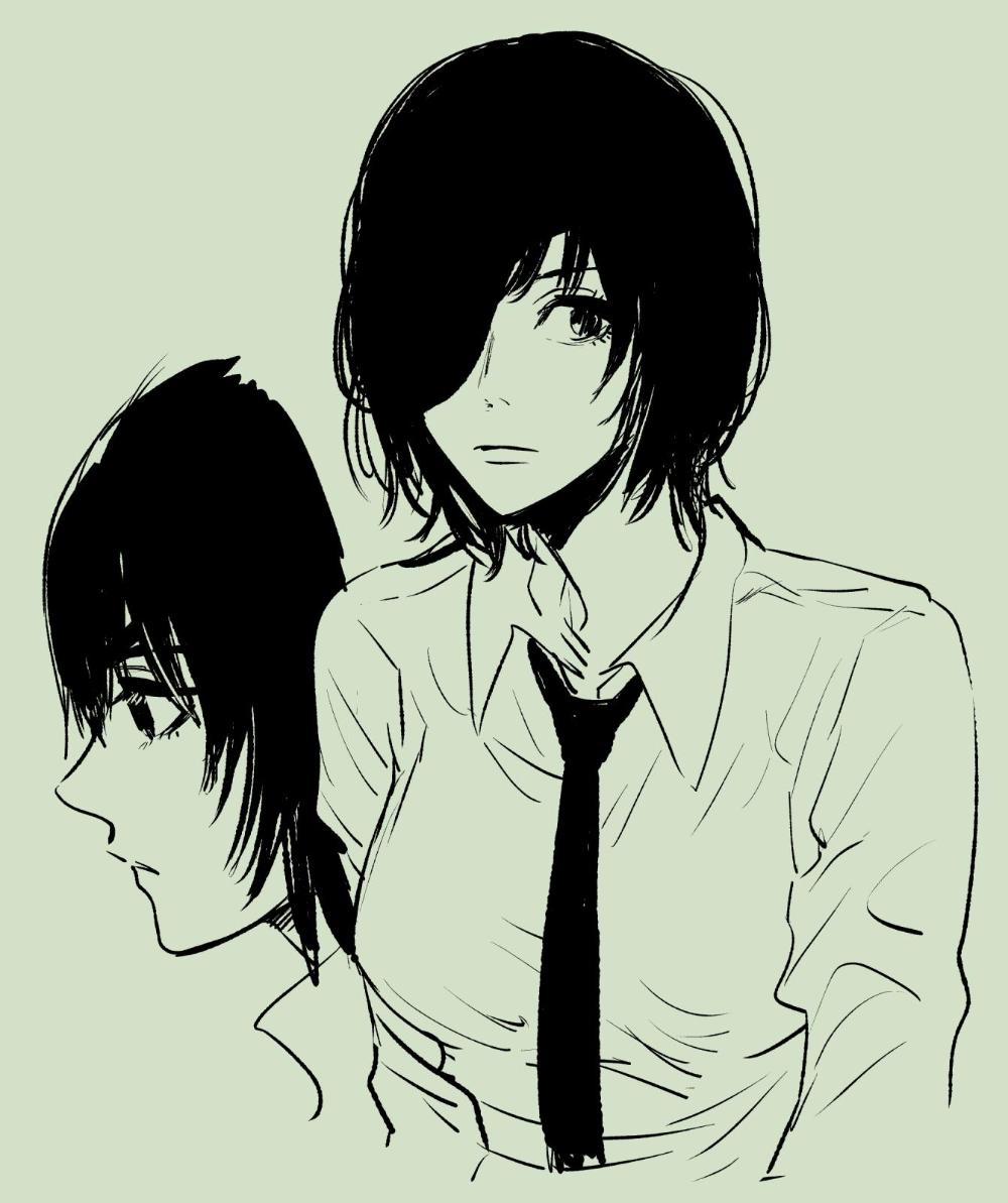 横槍メンゴ ライジング on twitter chainsaw dark anime guys character art