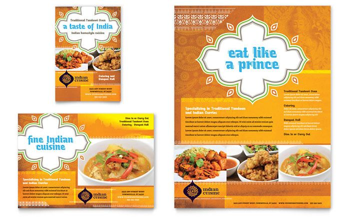 Flyer  Ads Sample  Indian Restaurant  Graphic Designs Gallore