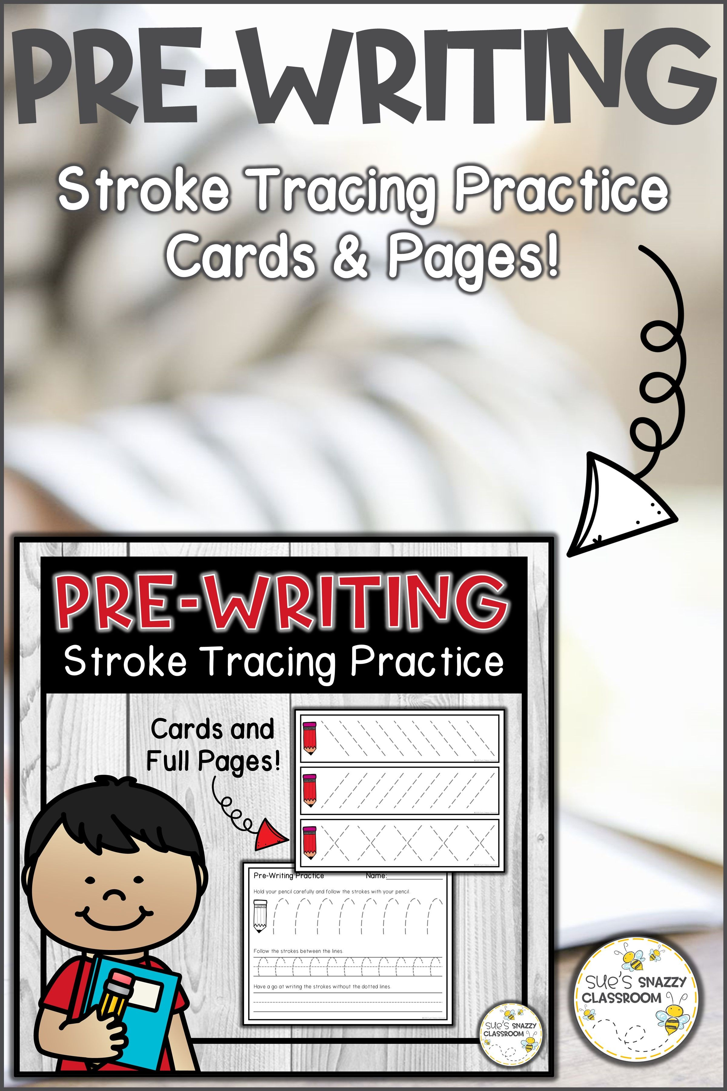 Pre Writing Strokes Tracing Practice