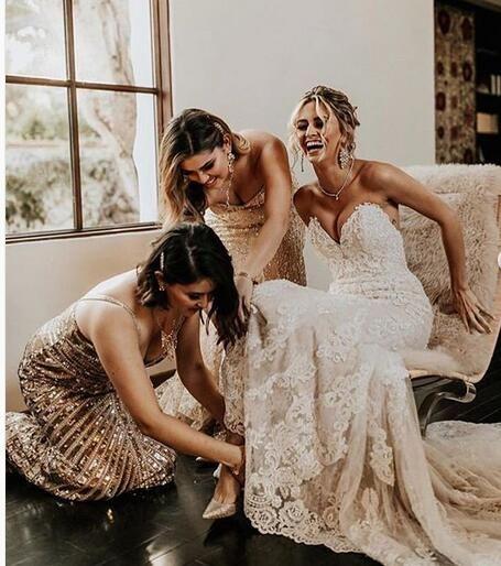 Sexy Sweetheart Wedding Dress, Lace Wedding Dress, Long Bridal Dress from joepaldress