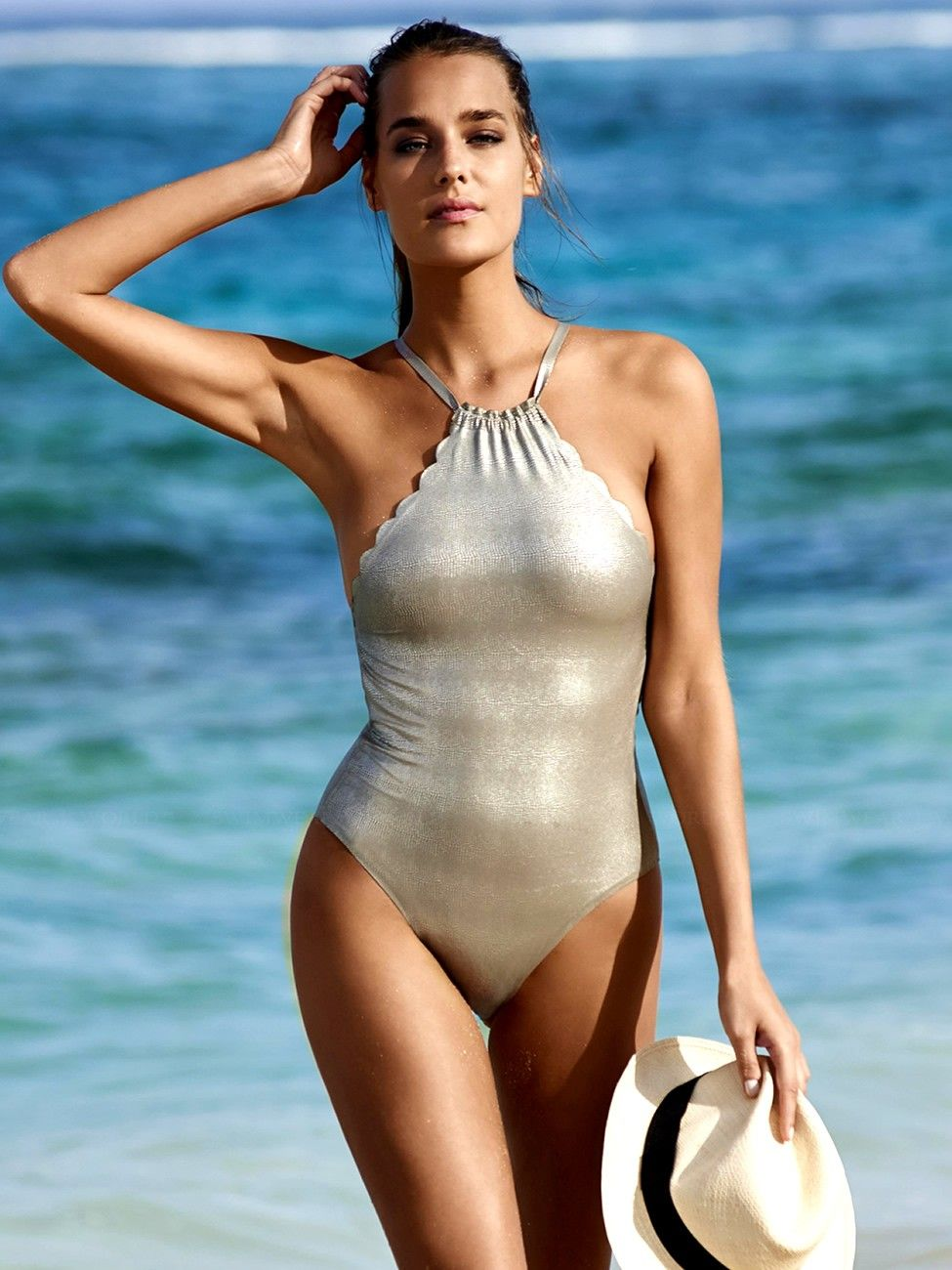 3981a8ce63 2016 Preview  This sexy gold one piece from PilyQ can be reversed to reveal  an equally sexy black suit. Find at Johari Montclair(NJ) for the 2016  Resort ...