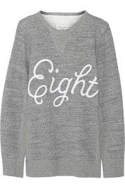 Rag & boneAppliquéd cotton-fleece sweatshirt