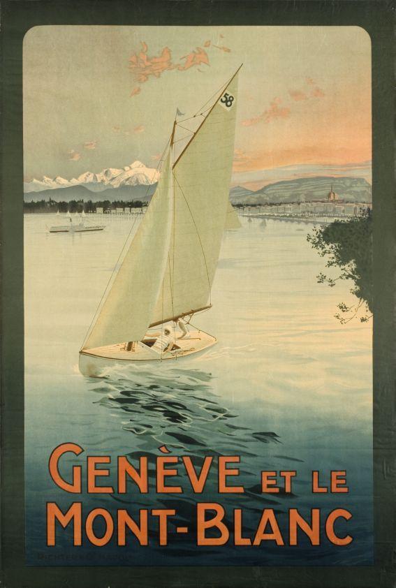 Genève et le Mont-Blanc