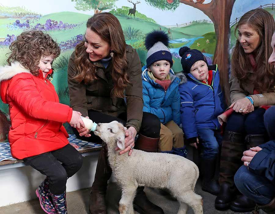 Best photos as Kate Middleton makes surprise visit to farm
