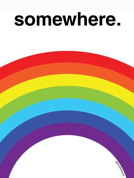 Somewhere Over The Rainbow With Images Rainbow Print Rainbow