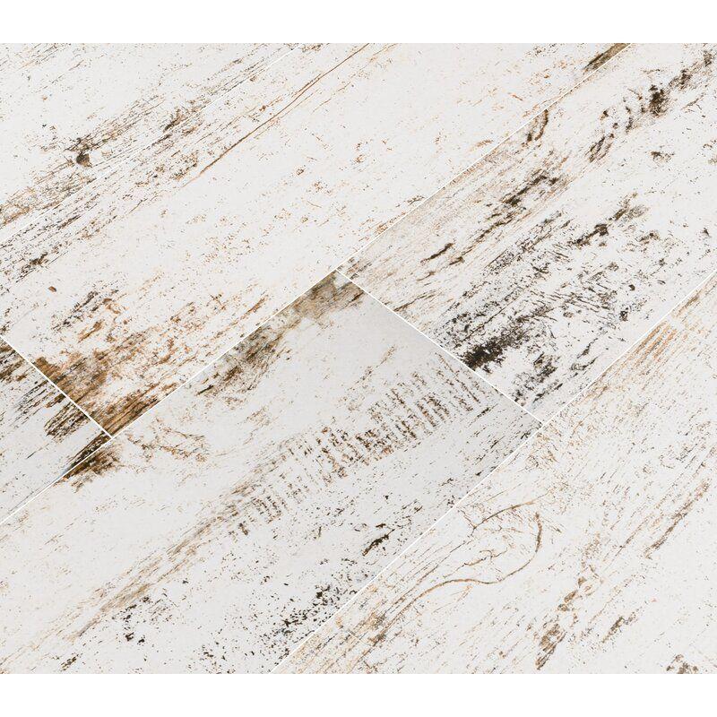 """Vintage 8"""" x 36"""" Porcelain Wood Look Tile in 2020 Wood"""