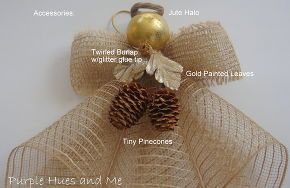 mesh ribbon angel, crafts, seasonal holiday d cor, wreaths, Decorate your angel with embellishments or accessories to compliment any d cor This color reminds me of sheer burlap for a rustic elegant feel