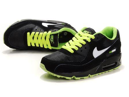 Womens Nike Air Max 90 Black Green