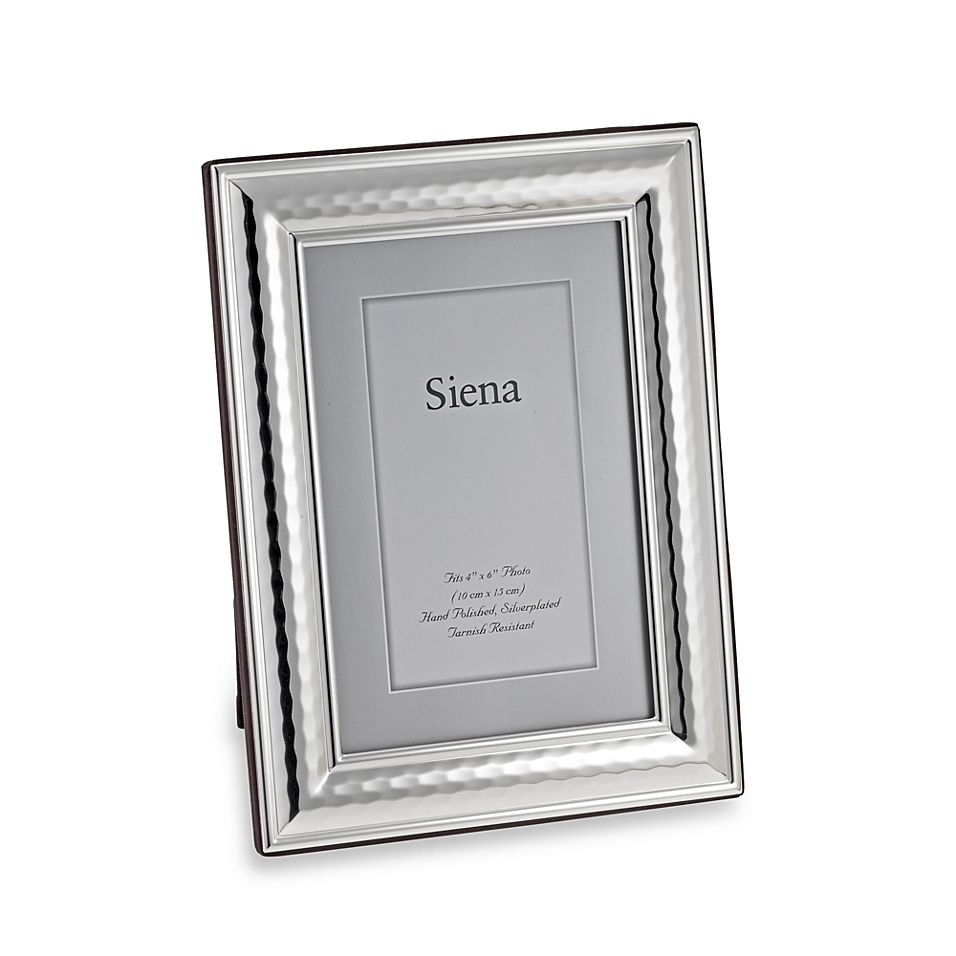 Siena Hammered Silver Plated 8 X 10 Frame Silver Picture Frames Hammered Silver Silver Plate