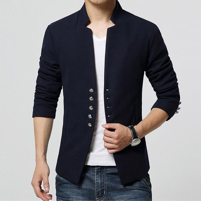 b0436ee67774 Men s Fashion Short Single Breasted Casual Blazer – Zorket